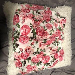 floral forever 21 skirt